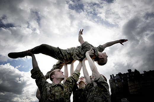 Five Soldiers by the Rosie Kay Dance Company at Edinburgh Castle