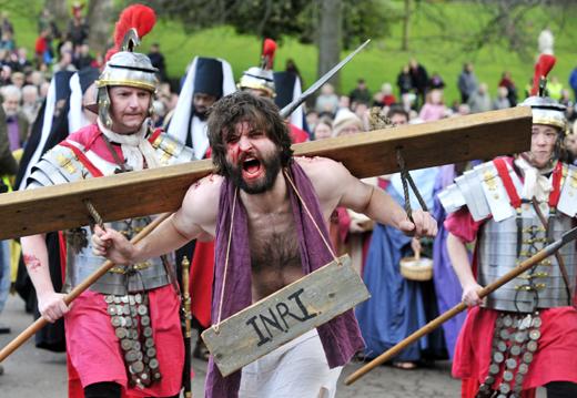 The Pion Play Performed In Princes Street Gardens Edinburgh