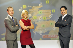 Chris Blanchett, Cat Cubie and Stavros Danaos, BBC Scotland's new weather presenters