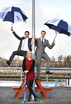 new BBC Scotland weather presenters Stavros Danaos, Cat Cubie and Chris Blanchett