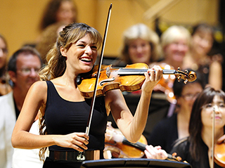 Nicola Benedetti performs at Classic Music Marathon at Glasgow's Royal Concert Hall
